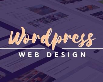 Small Website - Wordpress Web Design - Custom Divi Business Site - Responsive Website