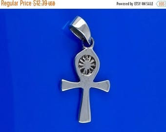 ON SALE Simple Ankh Pendant in Solid 925 Silver - Egyptian Fertility Charm - Breath of Life