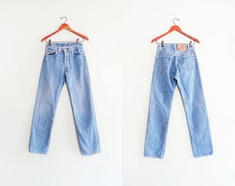 Vintage Levis 501 - Levis 501 size 24 - High Waisted Levis - Levis Mom Jeans - Levis 24 - Grunge Jeans - Vintage Denim Jeans - 80s Jeans D