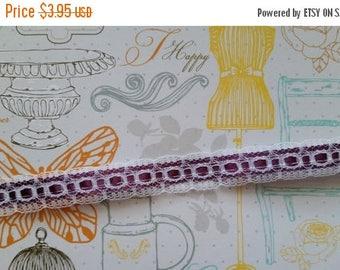 ON SALE 25% OFF 2 Yds Vintage Royal Purple Lace Trim