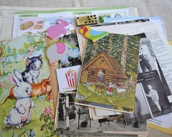 Vintage Ephemera Kit, Children Theme