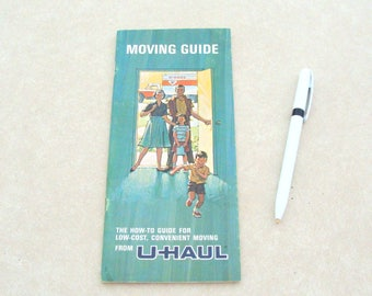 1968 Uhaul Moving Guide Brochure, 23 Pages of Advertising for Uhual Moving Co.
