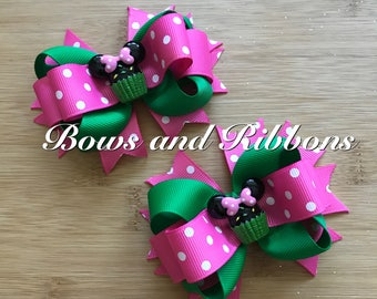 Miss Mouse Cupcake Bows