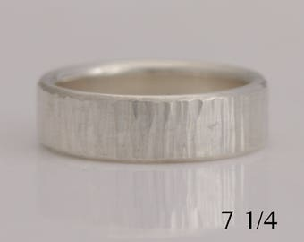 Silver band, hammered sterling silver ring, size 7 1/4 and made to order sizes, #738.