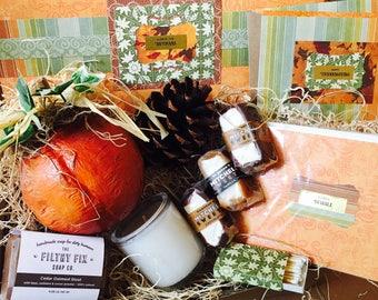 Thoughtful {Thanksgiving} Box {pumpkin + cedar oatmeal stout soap}