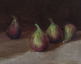 "4 Figs, 5""x7"" oil on panel"