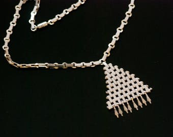 JAKOB BENGEL Necklace Chrome Brickwork Necklace German Machine Age Necklace