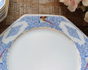 K &A Krautheim Selb Germany Octagon Shape Lunch Plate Listing is for ONE PLATE ONLY Replacement China, Ca. 1920's