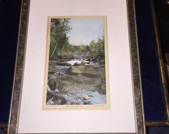 1930s, Hand Coloured Photograph, Rushing River, Ontario, Canada