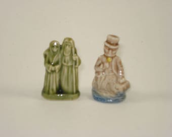 Wade Whimsies Red Rose Tea Figurines  - Mary and Joseph, Doctor Foster