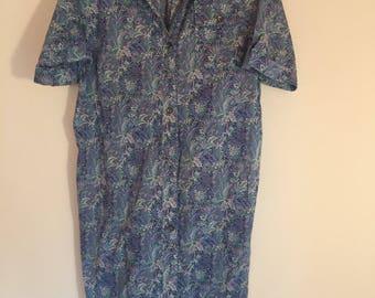 Liberty of London dress, liberty cotton shirtdress