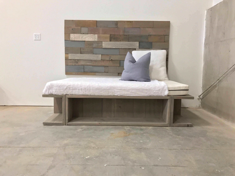 nourah weathered grey storage cubby base day bed. Black Bedroom Furniture Sets. Home Design Ideas