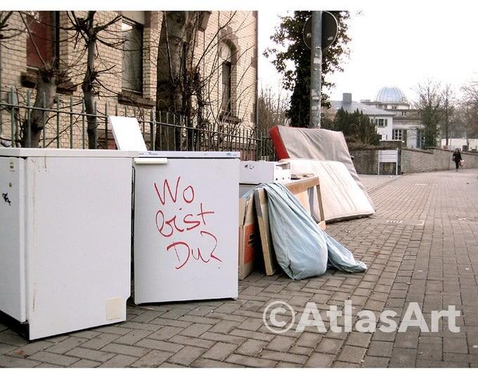 5 Postcards 'Where are you?', Set of 5,  home decor, streetart, art, photography