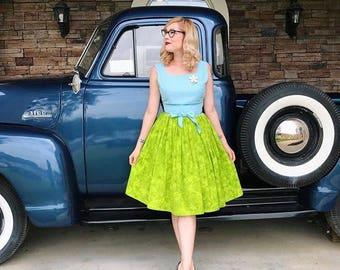 Nannette Dress - 1950's vintage inspired custom reproduction