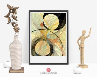 Stixy 1 – Mid Century Abstract Contemporary Modern Art Giclée Print