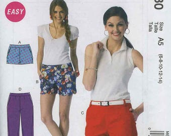 McCall's M6930 Easy Pants and Shorts Size A5 (6-8-10-12-14)