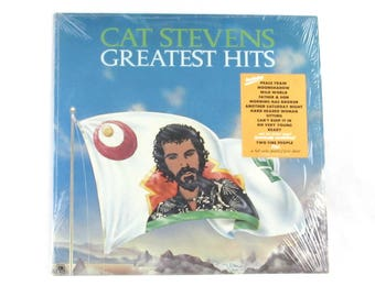 Cat Stevens Greatest Hits Record Album with Poster and Song Lyricks
