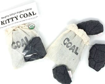 Coal Cat Toys | Naughty Kitty's Christmas Coal | Cat Toy | Christmas Cat Toys | Gift for Cat | Stocking Stuffer | Fun Cat Toys