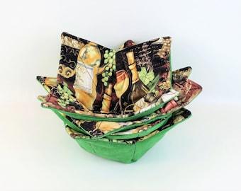 Microwave Bowl Cozy, Housewarming Gift, Pot Holder, Soup Bowl Holder, Washable, Fruit Bowl, Kitchen Accessory, Men Gift,  Bowl Holder