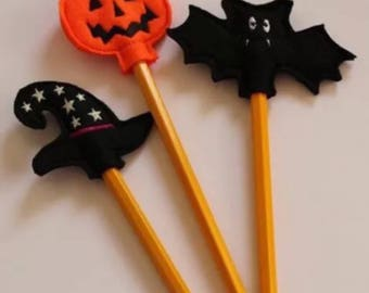 Set 3 Halloween pencils