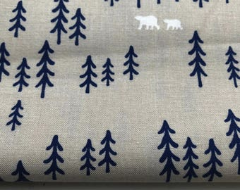 Pine Forest - Sand - Woven Cotton - Made in Denmark
