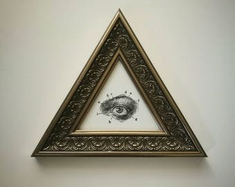 Silver Eye Triangle Picture Frame