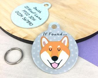 Dog Tag Shiba Inu - Shiba Inu Name Tag - Shiba Inu Collar Charm