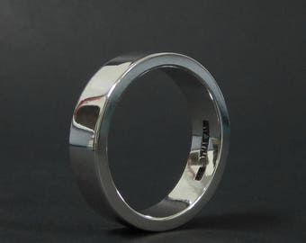 6 mm. Wide 2 mm. Thick Men's Silver Wedding Ring Plain 925 Sterling Silver Band Ring Engagement Women Rings Statement Ring Anniversary Gift
