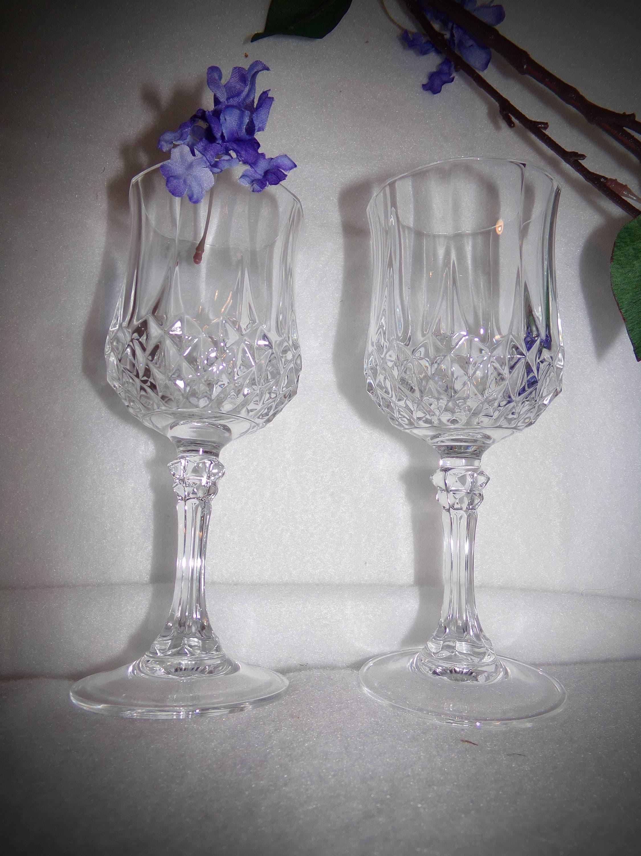 Crystal Barware . Fine Crystal . Set Of 2 Crystal Glasses .
