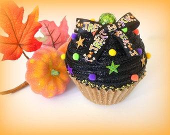 Large Fake Cupcake Halloween Black Gold Green Purple Trick Or Treat Halloween Decoration