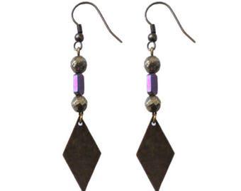 Leonie - gray earrings