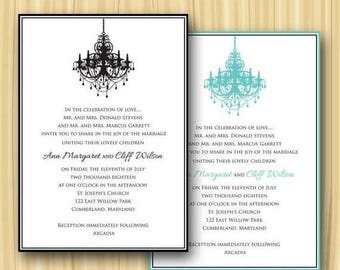 Summer Sale Classic Border Chandelier Invitation (Sample ONLY)