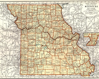 Missouri State Map Etsy - Missourimap