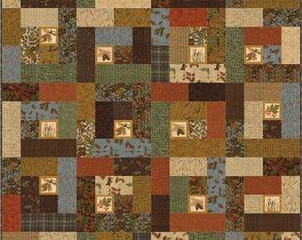 PATTERN:  Fall Impressions - Doug Leko by Antler Quilt Designs - Fat Quarter Friendly - Lap - Throw/Twin - King - AQD 0255 - Man Quilt