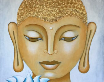 Buddha & Lotus 20 - Original Painting