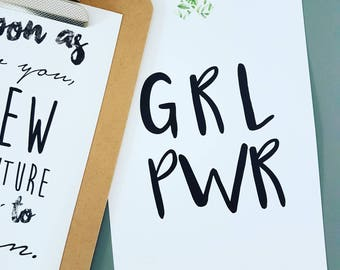 Girl Power Typography Print