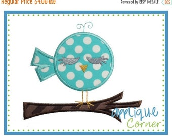40% OFF INSTANT DOWNLOAD Bird on Branch Applique Design design for embroidery machine by Applique Corner