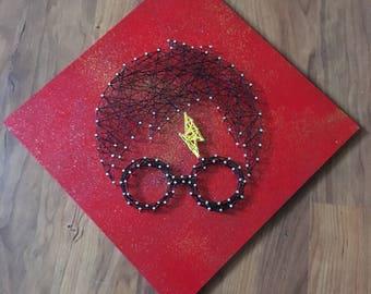 Harry Potter String Art [Home Decor] [Hogwarts Art] [Birthday/ Christmas Gifts for Him/Her] [Customizable] [Handmade to Order]