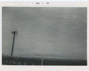 Vintage Snapshot Photo: Roadside, 1955 (75580)
