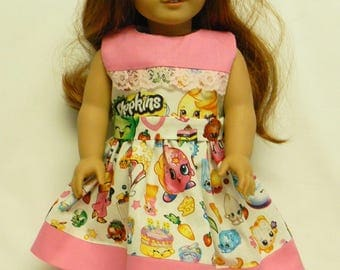 Shopkins Theme Dress For 18 Inch Doll Like The American Girl