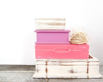 Bridesmaid Gifts - Pretty Pink Jewelry Boxes - 4 - Pink Wedding