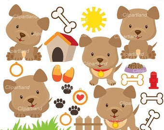 ON SALE INSTANT Download. Cdp_4_Puppy_dog. Puppy dog clipart. Personal and commercial use.