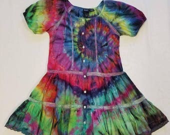Funky Tie Dye Ladies Dress size Large W270