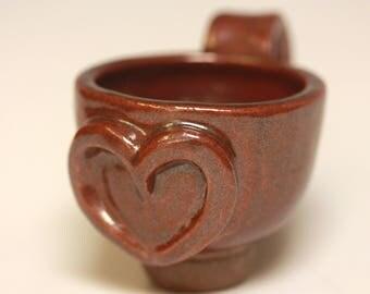 Iron Red Heart Mug