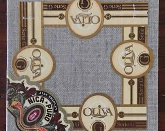 2017 Cigar Band Collage Coaster: Oliva G Nica Puro