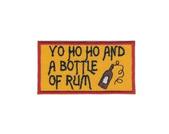 Yo Ho Ho and a Bottle of Rum Iron on Applique Iron on Patch Pirate Patch