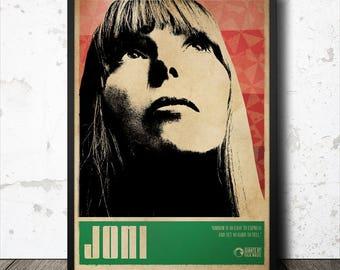 Joni Mitchell Folk Music Art Poster