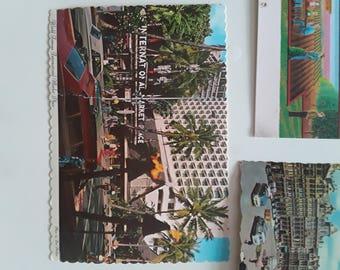 7 vintage postcards