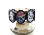 The Munsters bracelet, Lily Munster, Herman Munster, Vampire bracelet, gothic bracelet, TV nostalgia