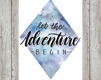 Watercolor Diamond Adventure Print